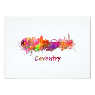 Coventry skyline in watercolor card