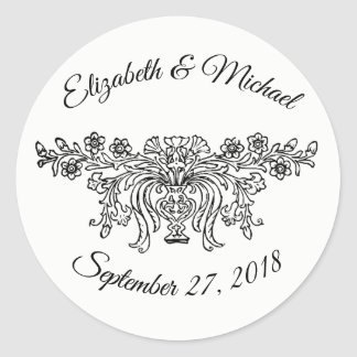 Coventry Traditional Wedding Classic Round Sticker