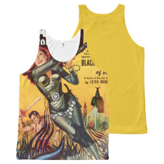 Cover Art Black Amazon Of Mars 1951 All-Over-Print Tank Top
