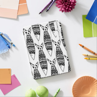 cover housing ipad black and white fish iPad air cover