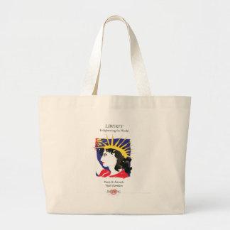 Cover-Lady Liberty/Bag Large Tote Bag