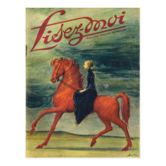 Cover, Lisez-Moi, Lady on horseback Postcard