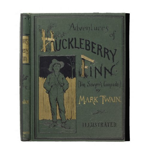 Cover of 'Adventures of Huckleberry Finn' by Mark iPad Folio Case