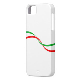 Cover of mobile with Italian flag iPhone 5 Covers