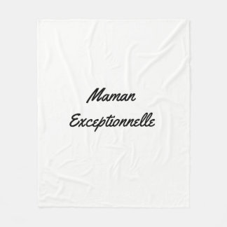 Cover personalized for the Mother's Day Fleece Blanket