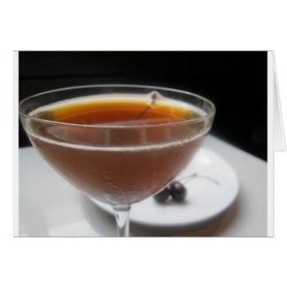 Cover photo is a cocktail from a New Orleans bar. Card