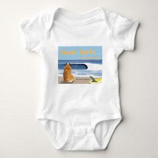 Cover T - Dozer Surfs... a true dog's tale Baby Bodysuit