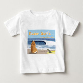 Cover T - Dozer Surfs... a true dog's tale Baby T-Shirt