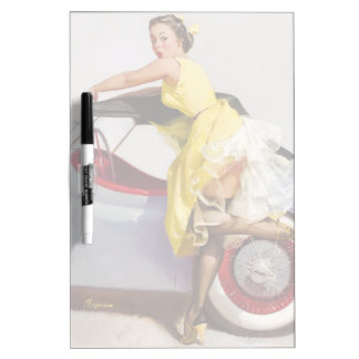 Cover up retro pinup girl Dry-Erase boards