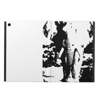 Cover with black and white print elephant iPad air cases
