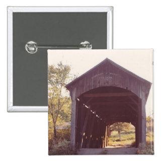 Covered Bridge 2 Inch Square Button