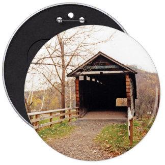 Covered Bridge 6 Inch Round Button