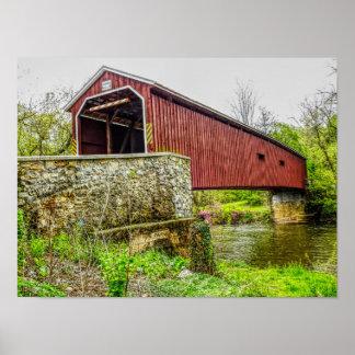 Covered Bridge -- art print _ Lancaster Pa