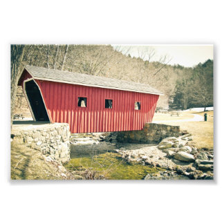 Covered Bridge at Kent Falls State Park Photo