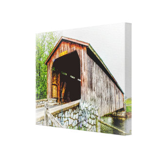 Covered Bridge -- Canvas Art Print