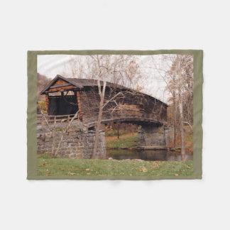 Covered Bridge Fleece Blanket