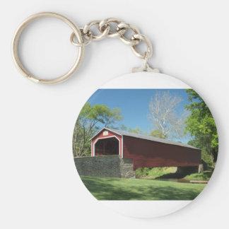 Covered Bridge in Pennsylvania Basic Round Button Keychain