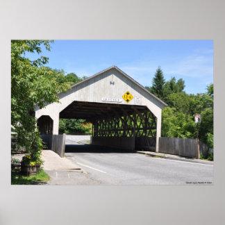 Covered bridge in Queechee Gorge,Vermont - Print