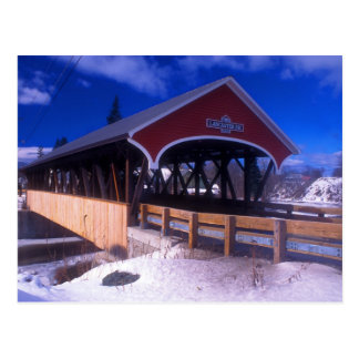Covered Bridge Lancaster NH Postcard