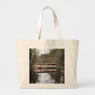 Covered Bridge Large Tote Bag