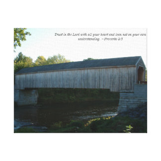 Covered Bridge on Canvas