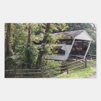Covered Bridge Rectangle Sticker