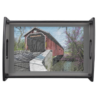 Covered Bridge - serving tray