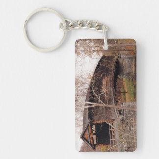 Covered Bridge Single-Sided Rectangular Acrylic Keychain