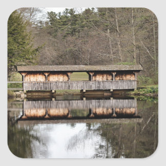 Covered Bridge Square Sticker