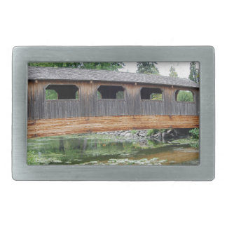 Covered Bridge Summer Rectangular Belt Buckles