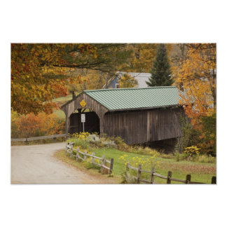 Covered bridge, Vermont, USA Poster