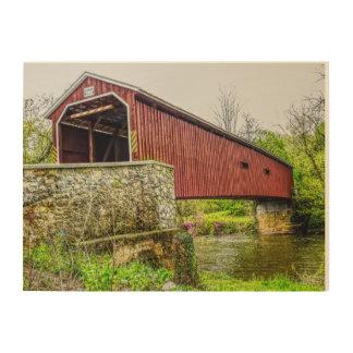 Covered Bridge -- Wood Wall Art