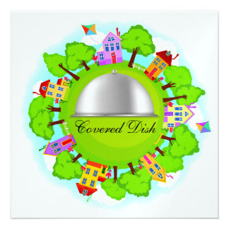 Covered Dish - Neighborhood Event - SRF Personalized Announcement