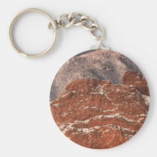 Covered in Snow Basic Round Button Keychain