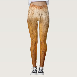 Covered in textured paint leggings