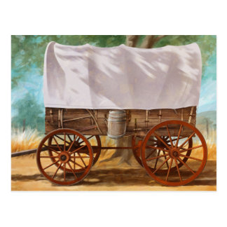 Covered Wagon Postcard