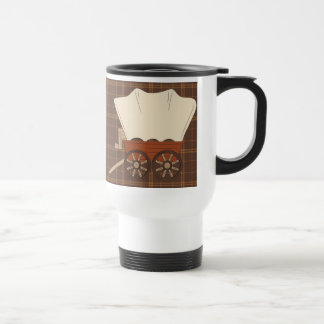 Covered Wagon Travel cartoon mug