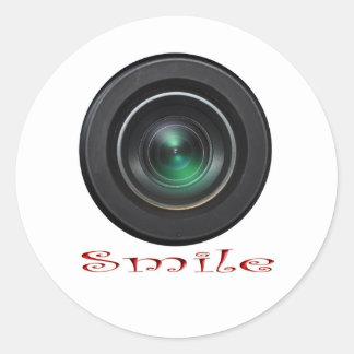 Covertcam Smile Round Sticker
