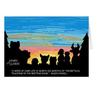 "Covey Logic ""Camp Life"" Greeting Card"