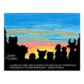 """Covey Logic """"Camp Life"""" Postcard"""