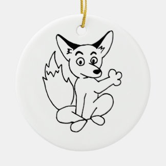 Covey Logic Uncolored Fox Ornament