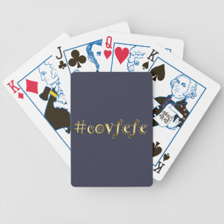 #covfefe! bicycle playing cards