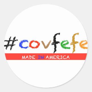 #covfefe Made In America Classic Round Sticker
