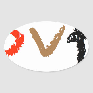 #covfefe Made In America Oval Sticker