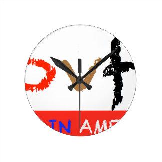#covfefe Made In America Round Clock