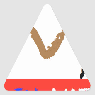 #covfefe Made In America Triangle Sticker
