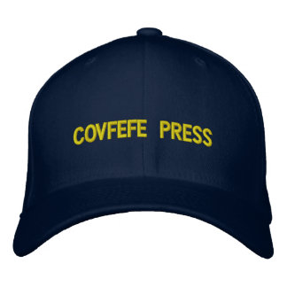 Covfefe Press: Flexfit Wool Cap Embroidered (Navy)