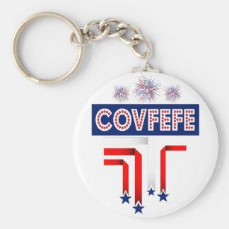 Covfefe Trump Joke for 4th of July Celebration Keychain