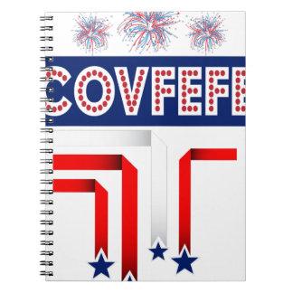 Covfefe Trump Joke for 4th of July Celebration Spiral Notebook