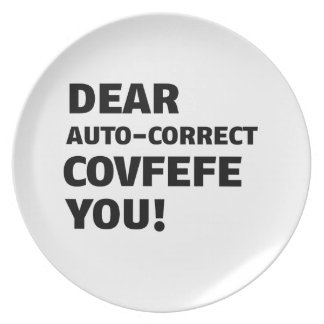 Covfefe Tshirts Plate